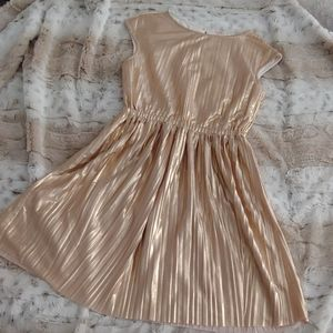 Crewcuts gold party dress, girls size 8
